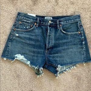 Agolde Shorts - AGOLDE Parker Vintage Cutoff Shorts- Rock Steady